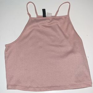 pink cami style top